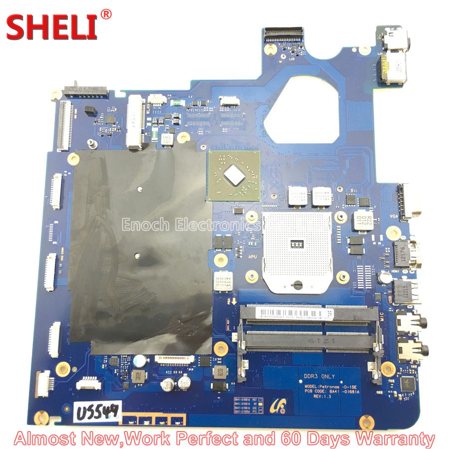 SHELI BA92-08673A BA92-08673B Laptop Motherboard For Samsung NP305V5A 305V5A Petronas-D-15E BA41-01681A HD 6470M 1GB Main Board for samsung np305v5c laptop motherboard ba92 08724a ba92 08724b ba41 01681a 100