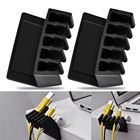 5 Slots flexible Universal Office Wire Cable Clips Desktop Cord Divider Cable Organizer USB Cable Holder Plastic