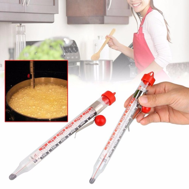 Nuevo termómetro de vidrio para dulces cocina medidores de temperatura para el hogar cocina temperatura suministros para el hogar Envío Directo