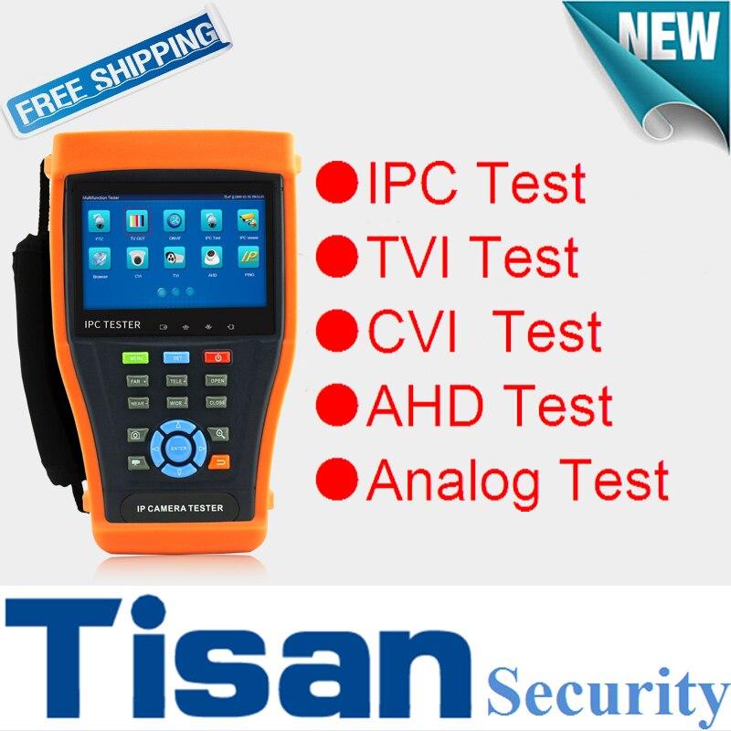 New IP tester 8MP TVI CVI Camera Tester 5MP AHD Camera tester cctv tester for IP Camera with PoE I Security camera