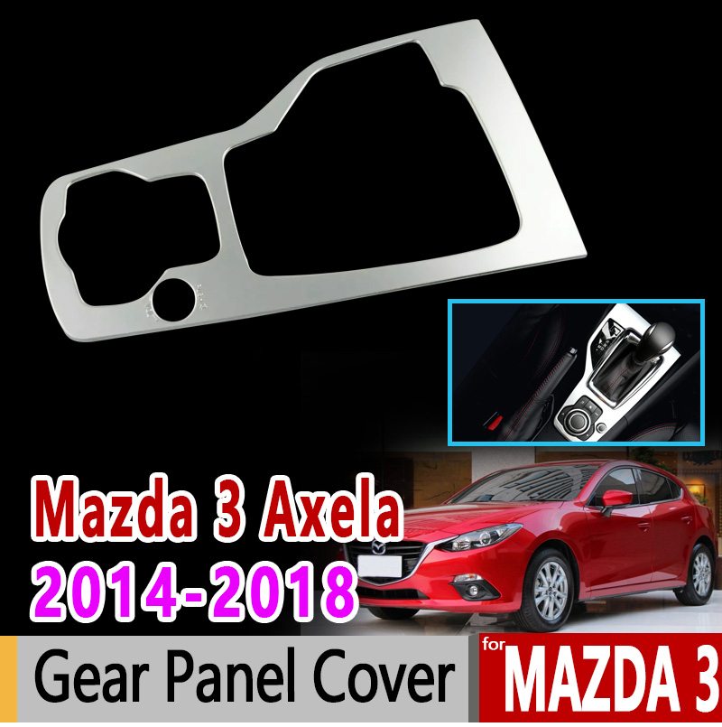 for Mazda 3 Axela 2014 2015 2016 2017 2018 BM BN Chrome Gear Panel Cover Luxury Accessories Car Sticker Sticker цена
