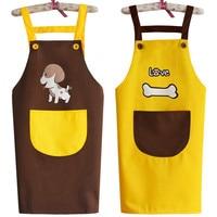 Couple apron Korean fashion waterproof dog men and women pet shop overalls apron