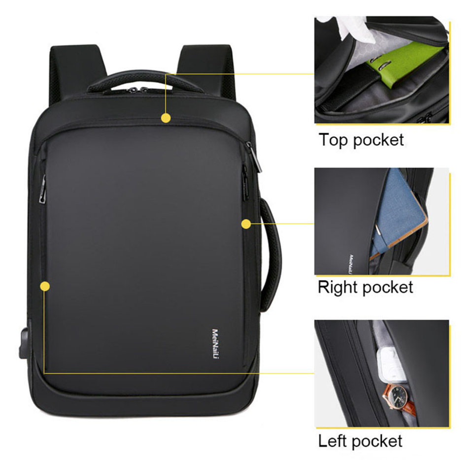 17 Inch Laptop Backpack 15.6 Mens Male Backpacks Business Notebook Mochila Waterproof Back Pack USB Charging Bags Travel Bagpack (6)