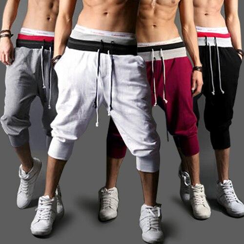 2016 Hot Spring Summer Mens Harem Capri Baggy Jogger Shorts Trousers Shorts S/M/L/XXL W1  10