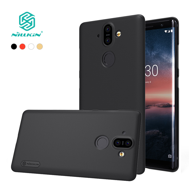 best website 4a4d3 eea69 US $7.19 10% OFF|For nokia 8 sirocco case cover 5.5 inch NILLKIN Frosted PC  hard back cover Gift Phone Holder For nokia 8 sirocco Phone bags-in Fitted  ...