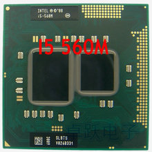 InteI core I5 560m I5 560m Dual Core 2.66GHz L3 3M PGA 988 PGA988 CPU Processor works on HM55