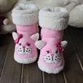 1 Pair Children Cartoon Indoor Middle Boot For Baby Girl Indoor Floor Boot Warm Home Boots XZ0060