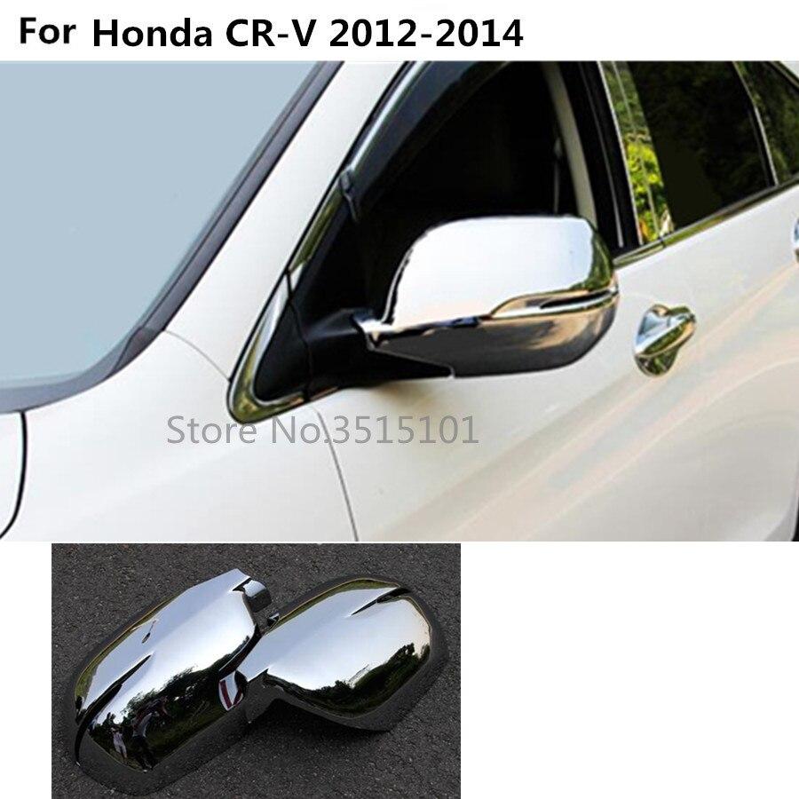 Chrome Door Side Mirror Wing Cover Lid Lip Spoiler For CR-V CRV 2017 2018 2019