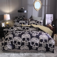 Sugar Skull Printed Bedding Sets Single Double Twin Full Queen King AU EU US Size Duvet Cover Pillowcase comforter bedding sets