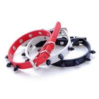 BP Heat Sell PU A Collar For A Horse Bite The Dog Chain Colour Circle Head Nail Collar Pets Articles JJ XQ23