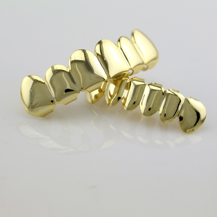 huntik spreuken Hip Hop rapper Teeth Grillz Caps Fangs Top & Bottom Smooth Grill  huntik spreuken
