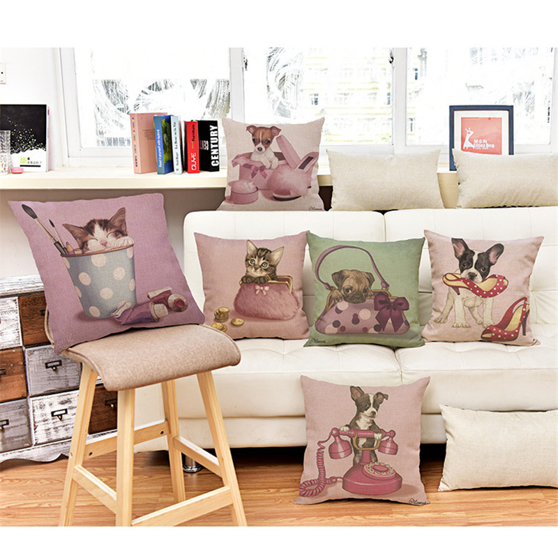 wholesale high quality wedding home car sofa pillowcase Fashion Home Phone Bags High Heels fun of the cat cushion cover