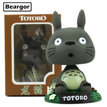 6pcs 5inch Totoro Bobble Head Shaking Head Toy Car Decoration Boxed 12cm PVC Anime Action Figure Collection Model Doll Toys Gift
