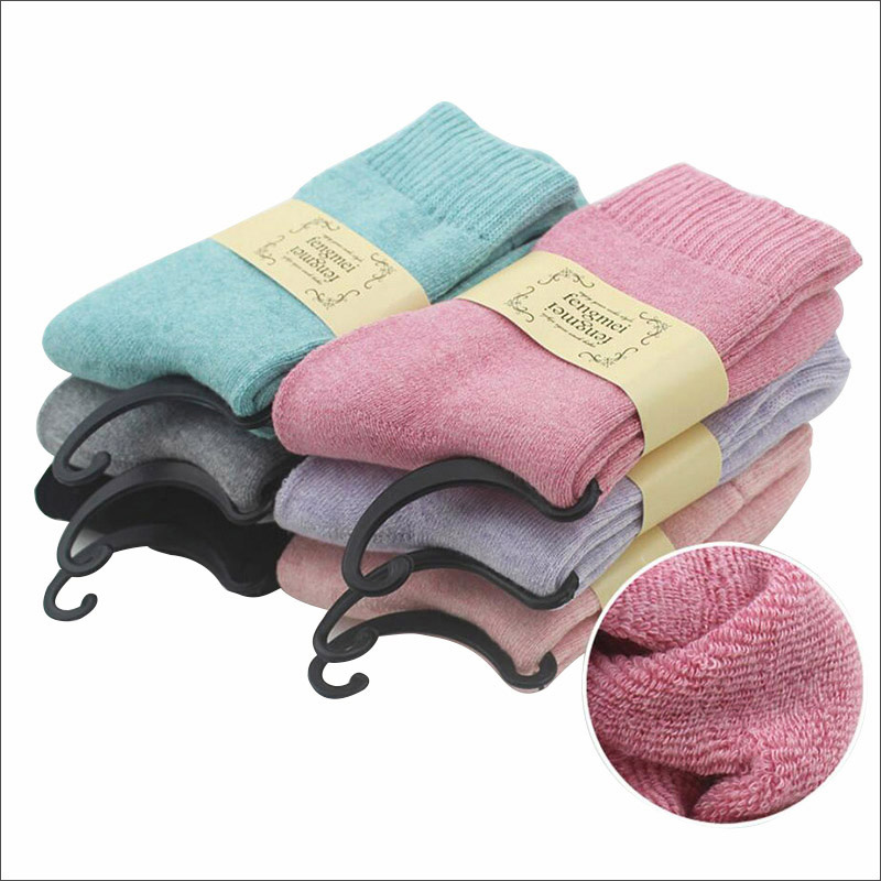 New Winter Women   Socks   Thick Warm Cotton   Socks   Soft as Thermal Cashmere   Socks   Women's Thicken Casual   Socks   Girl Solid Color
