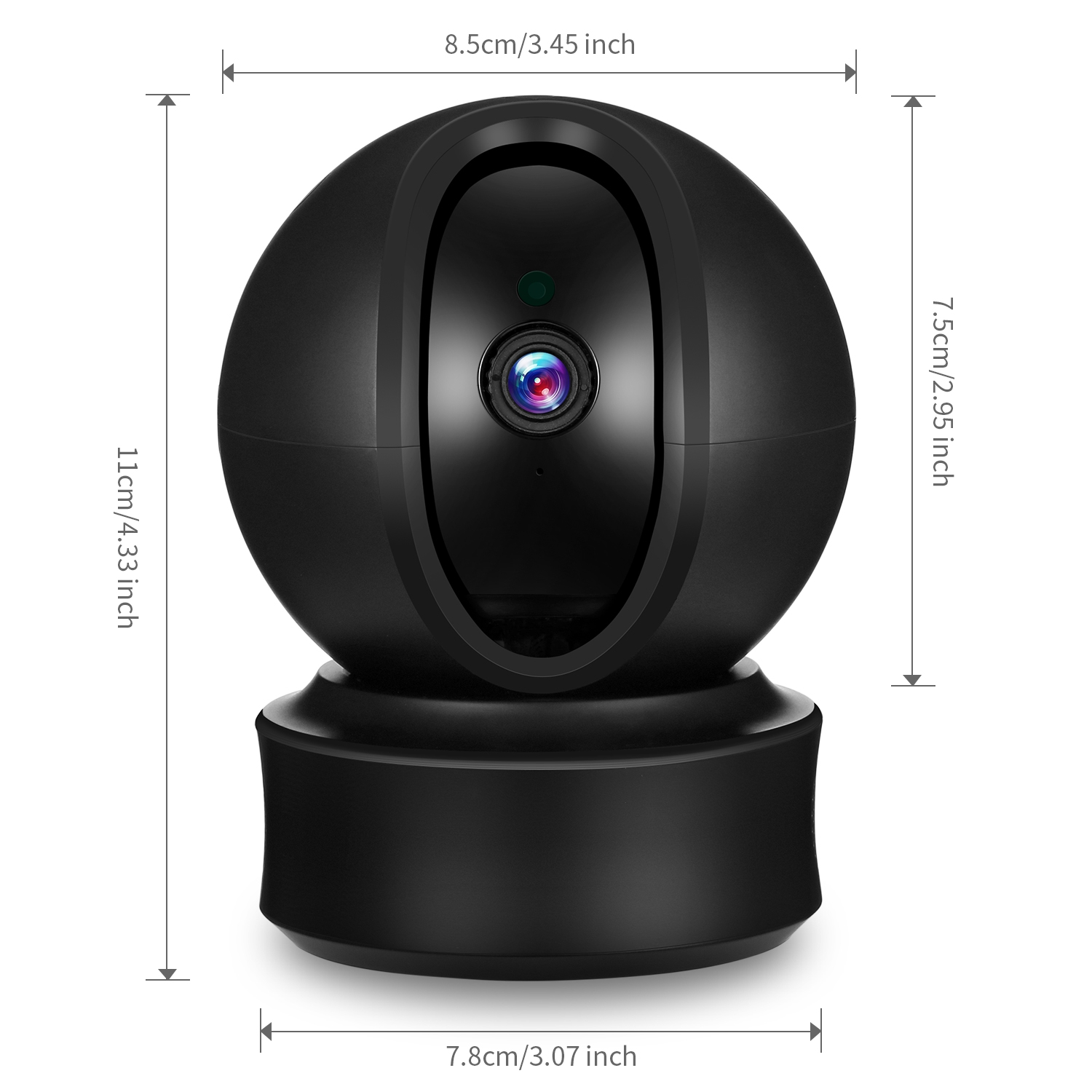 1080P WiFi IP Camera Two-Way Audio CCTV Camera APP Control Support Android  IOS Night Vision for Home Security