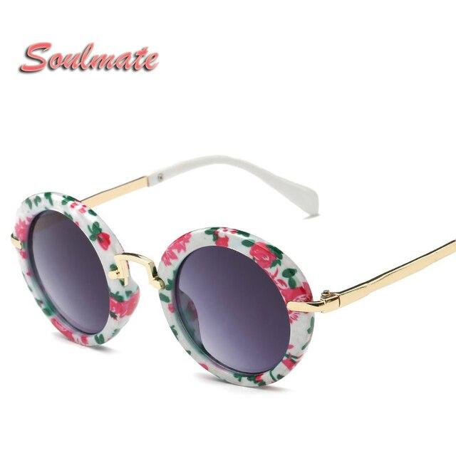 a481ae7b4 Rosto redondo Crianças Meninos Meninas Óculos de sol Óculos UV400 Óculos De  Sol Retro Do Vintage