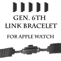 Stainless Steel Replacement Smart Apple Watch Band Link Bracelet With Double Button Folding Clasp For 42mm