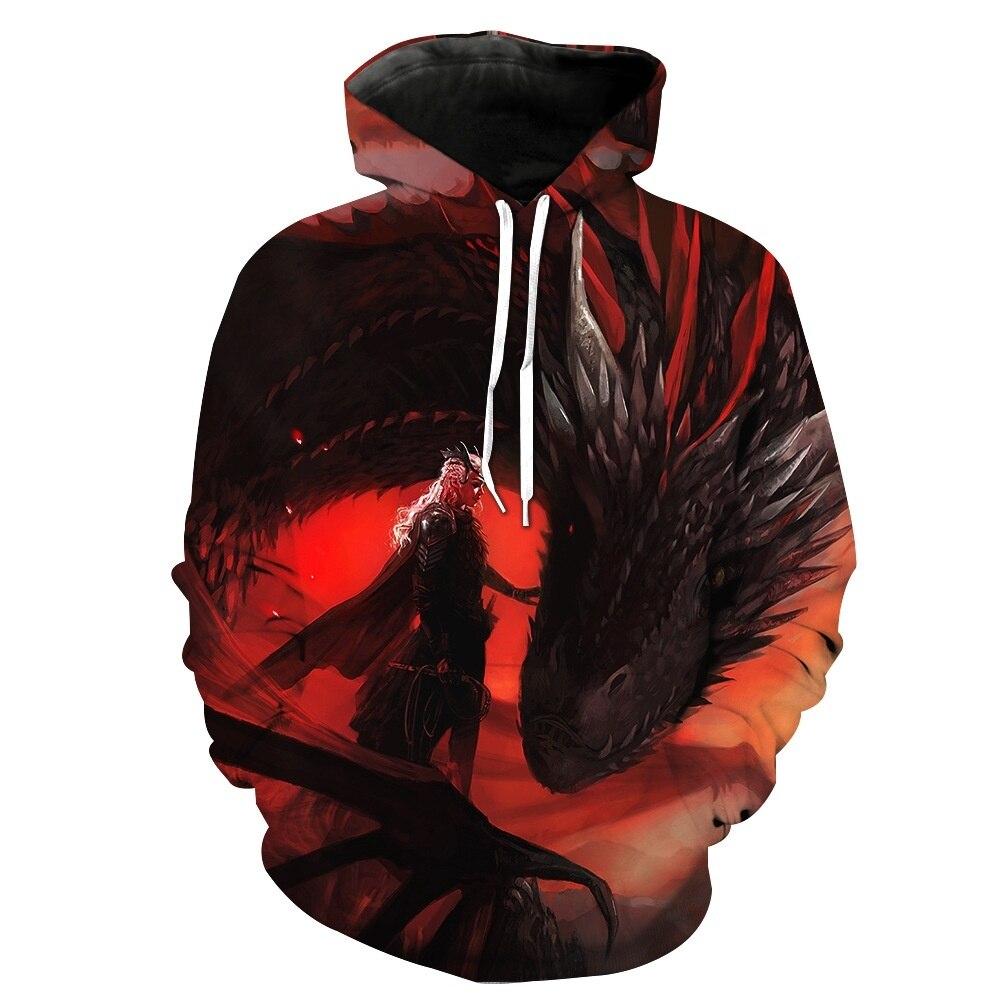 Zogaa Männer Hoodies 2019 Herbst Sweatshirt Streetwear Hoodie Männlichen Langarm 3d Gedruckt Drachen Pullover Skateboard Hip Hop Hoodie Den Menschen In Ihrem TäGlichen Leben Mehr Komfort Bringen Herrenbekleidung & Zubehör