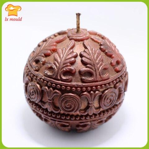 Boule relief bougie moules rétro texture bougie moule 3D festive bougies outils