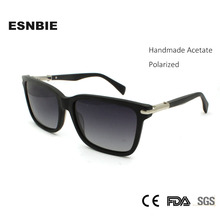 ESNBIE Brand Design Black Square Sunglasses Men Polarized Sports Male Glasses Women Driving Goggle UV400 Acetate Gafas De Sol