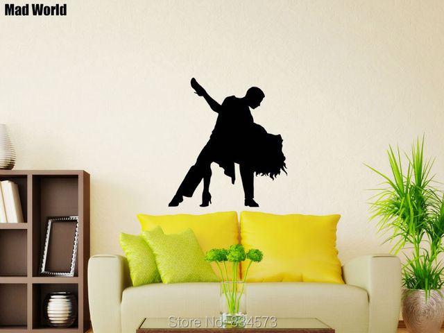 Mad World Dancer Passion Dance Man Woman Sport Wall Art Stickers ...