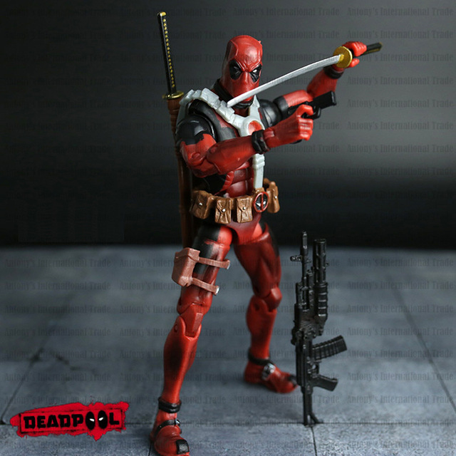 2016 new hot free shipping 20cm super hero justice league x man deadpool action