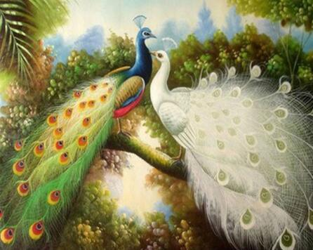 2017 NEW Peacock Love Cash Pattern Diamond Embroidery DIY Hand Diamond Painting Cross Stitch Drilling Full Strass Painting RD698