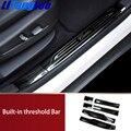 Litanglee Встроенная накладка передняя дверь задняя дверь титановая Черная Нержавеющая Сталь для Cadillac XT5 стайлинга автомобилей
