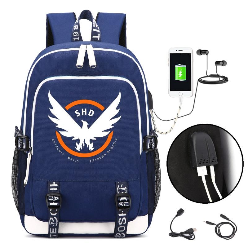 Tom Clancys la Division sac à dos SHD avec Port de chargement USB et verrouillage et interface casque pour le travail des étudiants du collège hommes et femmes