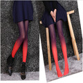 2017 NEW Fashion Girl's Ombre gradient tights pantyhose sexy funky Tight for women stocking pants 6 mixed colors