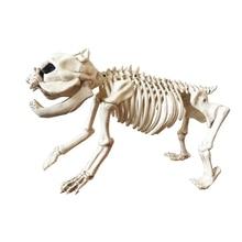 Скелет собаки 100% пластиковые животных костей скелета жуткий дополнение к Хэллоуин украшения