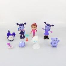 Junior Vampirina The Vamp Action Figures Toys Vamp Girl Bat Dog Figuras Dolls Kids Moive Cartoon Gift 9pcs/lot 3.5-8cm(China)