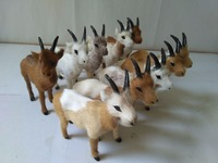 about 11x4x12cm plastic&mixed furs sheep goat model one lot/10 pcs handicraft prop home decoration gift d2301