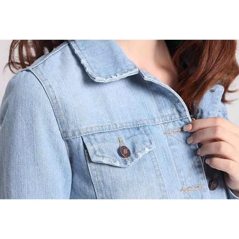 bb876d659e285 ... Womens jackets coats 2019 Spring fashion jeans Jackets Denim Women slim  cotton solid Jacket for women