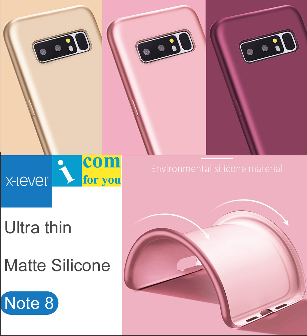 X-Level Ultra thin Silicone Cover Case For Samsung Galaxy Note 8 Guardian Matte frosted TPU X Level Protective Note8