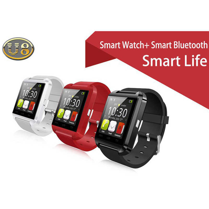 2019 nuevo reloj inteligente U8 Bluetooth U80 para IPhone 6/5S Samsung S6/Note 4 HTC Android teléfonos Android