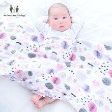 MIRACLE BABY Single Layer 100*140cm 100% Cotton Muslin Baby Blanket Swaddle Wrap Nursing Car seat Cover Newborns Unisex Cushion