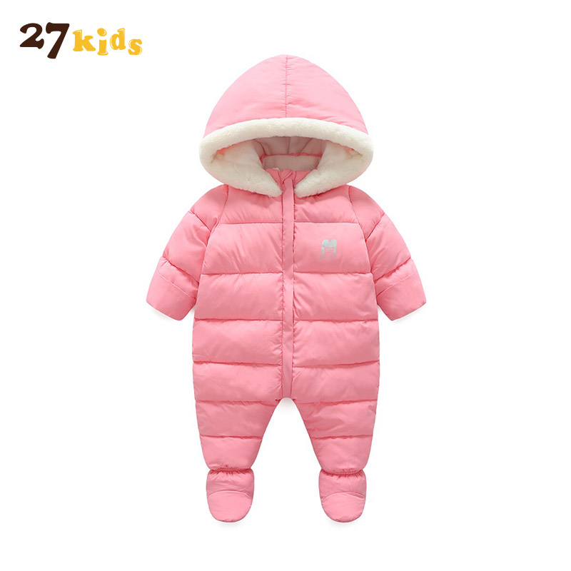 27 Kids Newborn Jumpsuit Baby Clothes Cotton Infant Baby Rompers Long Sleeve Winter Warm Romper Overalls Baby Clothing Hooded winter baby rompers organic cotton baby hooded snowsuit jumpsuit long sleeve thick warm baby girls boy romper newborn clothing