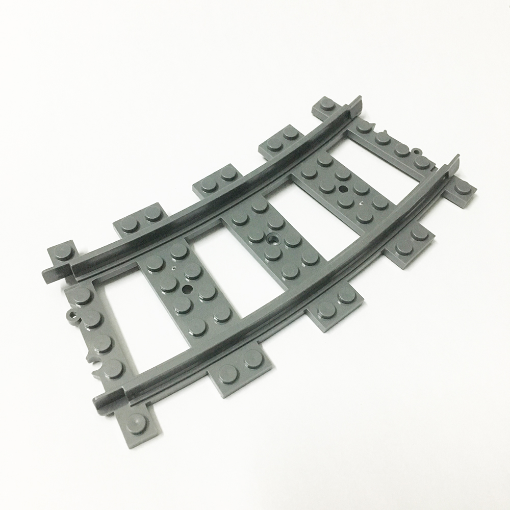 20 Pcs/Lot Curved Rail Building Blocks Sets Bricks Classic City Trains Rail Model Kids Toys Gifts Marvel Compatible Legoings