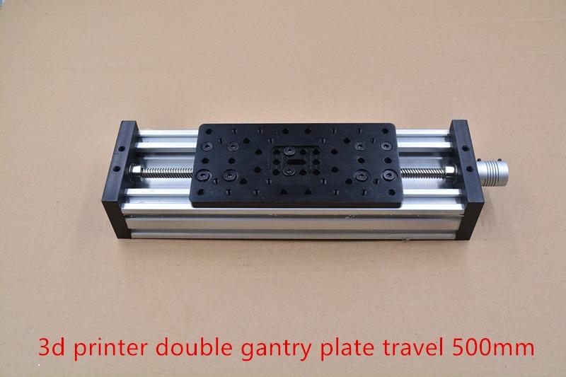 Imprimante 3d c-beam double plaque de portique table coulissante vis à tête de voyage 500mm T8 8mm ensemble de kit d'actionneur linéaire