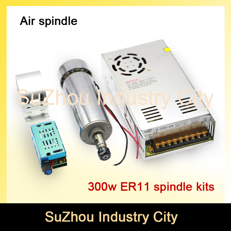 New product ! 300w ER11 High Speed CNC Spindle motor kit  for engraving milling cnc router machine new 1 5kw air cooled spindle motor kit cnc spindle motor 220v 1 5kw inverter square milling machine spindle free 13pcs er11