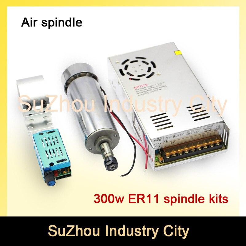 Nouveau produit! Kit de moteur de broche de CNC à grande vitesse de 300 w ER11 pour la machine de routeur de CNC de fraisage de gravure
