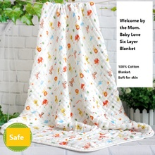 High quality cotton baby blanket newborn 0-12Months soft character blanket unisex comfortable for skin110*110cm