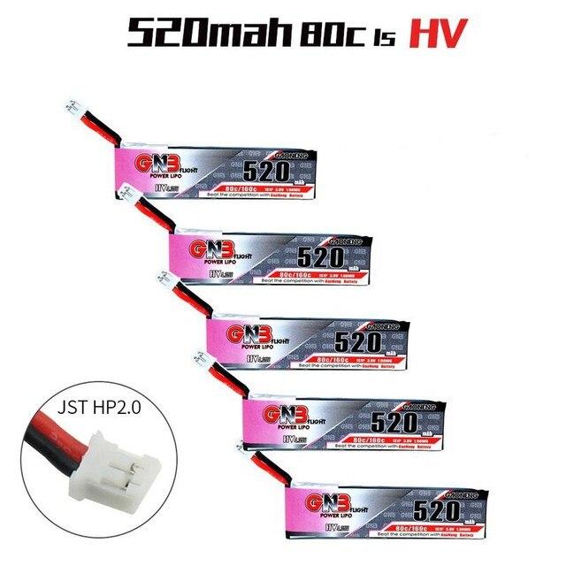 5 個 Gaoneng GNB 520 2600mah の 3.8V 80C/160C 1S HV 4.35V リポバッテリーと PH2.0 プラグ Emax の Tinyhawk Kingkong LDARC TINY7 RC 部品