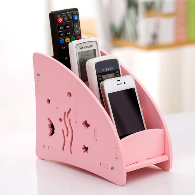 Creative Remote Control Holder Storage Box Living Room ...