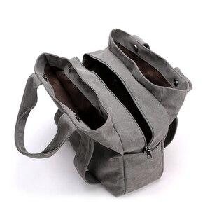 Image 4 - KVKY di Marca di Tela di Canapa delle Donne del Sacchetto di Spalla di Alta Qualità Tote Borse a Mano 2020 Femminile Borse Bolsas Feminina sac a main