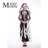 MOONIGHT Skull Muerte Costume Day Of The Dead Skeleton Mini Dress Women S Halloween Ghost Bride