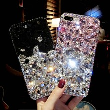 Bling Diamond case For Samsung Galaxy Alpha G850 grand prime G530 CORE 2 Grand neo i9060 Rhinestone fox Coque fundas lip Capa