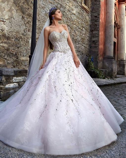 Vestidos De Novia Bling Bridal Gowns Vintage Luxury Glitter Wedding ...