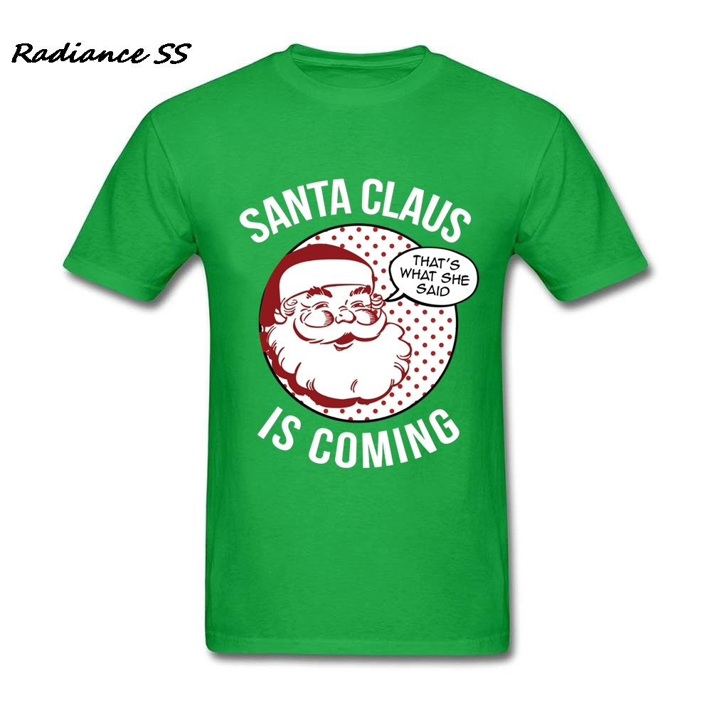 a51764fb7 New Coming Men t shirt Slim Fit Party Gift Design Santa Claus Is Coming T  Shirts Cool Tops Plus Size-in T-Shirts from Men's Clothing on  Aliexpress.com ...